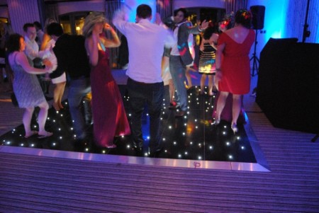 Starry Dancefloor Black Hire