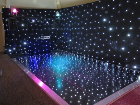 Black LED Dancefloor Hire