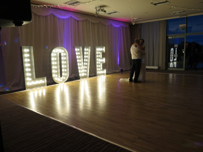 Light up LED love letters