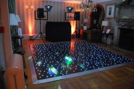 Black LED twinkly Dancefloor