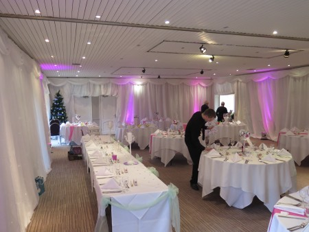 Stonehouse Court Wedding Drapes and Draping in Stroud.