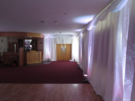 Wedding draping for Cirencester