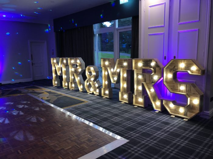Mr & Mrs Letter Hire Gloucestershire